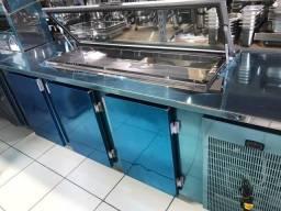 Balcão serviço refrigerado c/ pista frita 3 portas 2,5 mt - Ricardo *