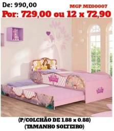 Bicama Infantil Princesas - Top de Linha - Direto da Fabrica