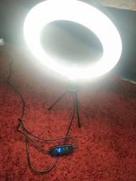 Título do anúncio: Ringh Light Iluminador Para Fotos Maquiagem 16cm Com Tripé<br><br>