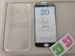 Capinha + película de vidro - Moto g5S Plus