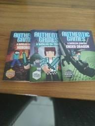 Livro authentic games com os 3 volumes.