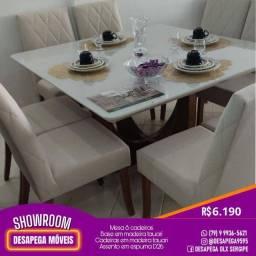 Título do anúncio: Mesa 8 cadeiras tampa de vidro