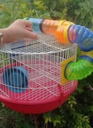 Título do anúncio:  Gaiola para hamster com tubo
