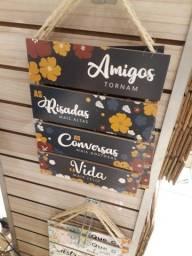 Plaquinhas decorativas produto novo