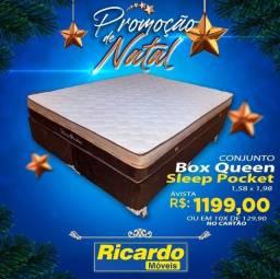Conjunto box 1.199 cama queen 1.199 conjunto box 1199