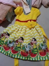 Vestido menina tema MAGALI