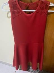 Vestido vermelho teen pro