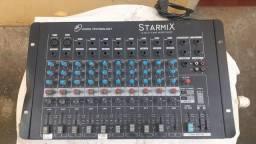 Mesa de som Starmix 10 canais | funcionando