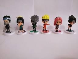 Kit miniatura Naruto contendo 6 peças