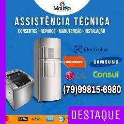 Título do anúncio: CONSERTO DE GELADEIRA MAQUINA DE LAVAR E FREEZER *