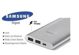 Carregador Portátil Samsung 10000mAh Prata + NF