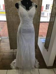 Vestido de noiva NOVO renda alça