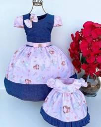 Título do anúncio: Vestido filha e boneca compra um leva outro