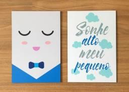 Kit Infantil Placas Decorativas (2 peças)