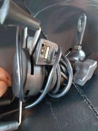 Suporte pra celular com entrada USB