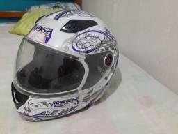Título do anúncio: capacete Mix 58, higienizado, cheiroso