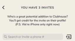 Convite Clubhouse