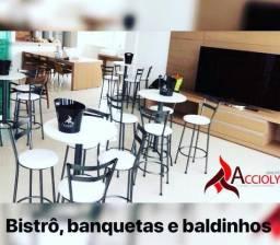 Locação de Móveis / Mobiliário ( Bistrô , sofá , puff , mesa ) para Eventos / Festas