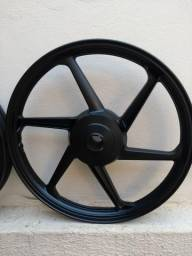 Roda Liga Moto 6 Pontas freio tambor