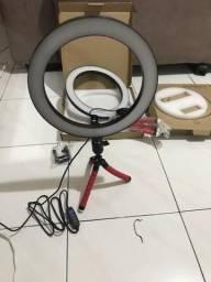 Anel de luz flash com três velocidades ideal pra fazer maquiagem Grátis tripe