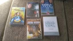 Kit com 5 Filmes Gospel Motivação Evangélicos em DVD Originais Novos