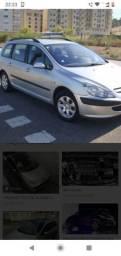 Teto com trazeira Peugeot 307 sw - 2006