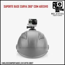 Base curva com rotação 360° + Adesivo 3M para GoPro e Similares
