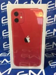 Loucura!!! IPhone 11 64GB Red Lacrado! com nota e garantia de 1 ano apple