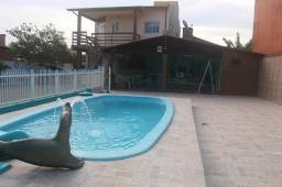 Verão com piscina