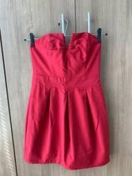 Vestido Tomara que Caia Vermelho Dress Tô