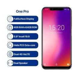 Umidigi One Pro 64 GB com NFC Novo na caixa com pelicula e capa de proteção.