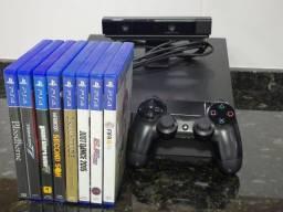PlayStation 4 + Camera + Controle + 8 Jogos