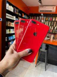 LINDO IPHONE 8 PLUS RED 64GB VITRINE TOP + CAPA E PELÍCULA DE BRINDE