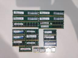 Memórias DDR3 e DDR2. Note e Desk. Placas Wireless.
