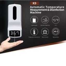 Termômetro k9 Digital Com Dispenser De Álcool Gel 2 Em 1