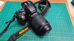 Título do anúncio: Câmera DSLR D5100 com lente 55-200mm