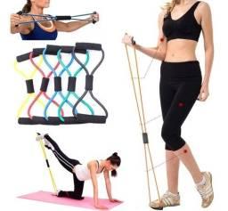 Elástico Tensão Exercícios Ombro Biceps Triceps