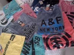 Promoção Camisas básicas de algodão 35,00