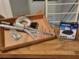 Antena externa e conversor digital aquário<br>