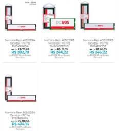 Memória Ram DDR3 e DDR4 para Desktop e Notebook - Até 12x no cartão