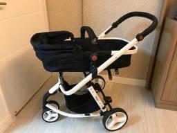 Título do anúncio: Carrinho de bebê mobi safety 1st branco e preto