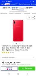 vendo celular novo a10 oferta impecável celular está impecável sem nenhum defeito
