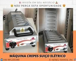 Máquina de fazer crepes suíço profissional elétrica 6 slots - Progas | Matheus