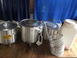 Kit de fabricação de cerveja artesanal