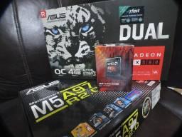 Título do anúncio: PC Gamer RX580 4G FX8370e 12GB Ram ssd 240G