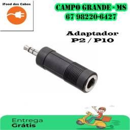 Adaptador  P10 / P2 - entrega grátis para toda Campo Grande.