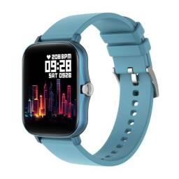 Relogio smartwatch inteligente Colmi P8 Plus original Azul tela touch