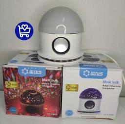 Título do anúncio: Abajur Estrela Com Caixa de Som via Bluetooth -Lotus LT-CT026