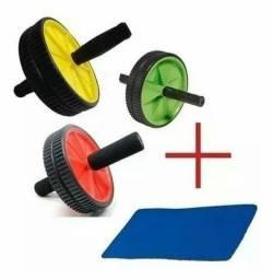 Roda de Exercícios Abdominal Lombar Musculação