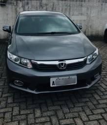 Honda Civic LXL 1.8 flex automatico cinza 12/13
